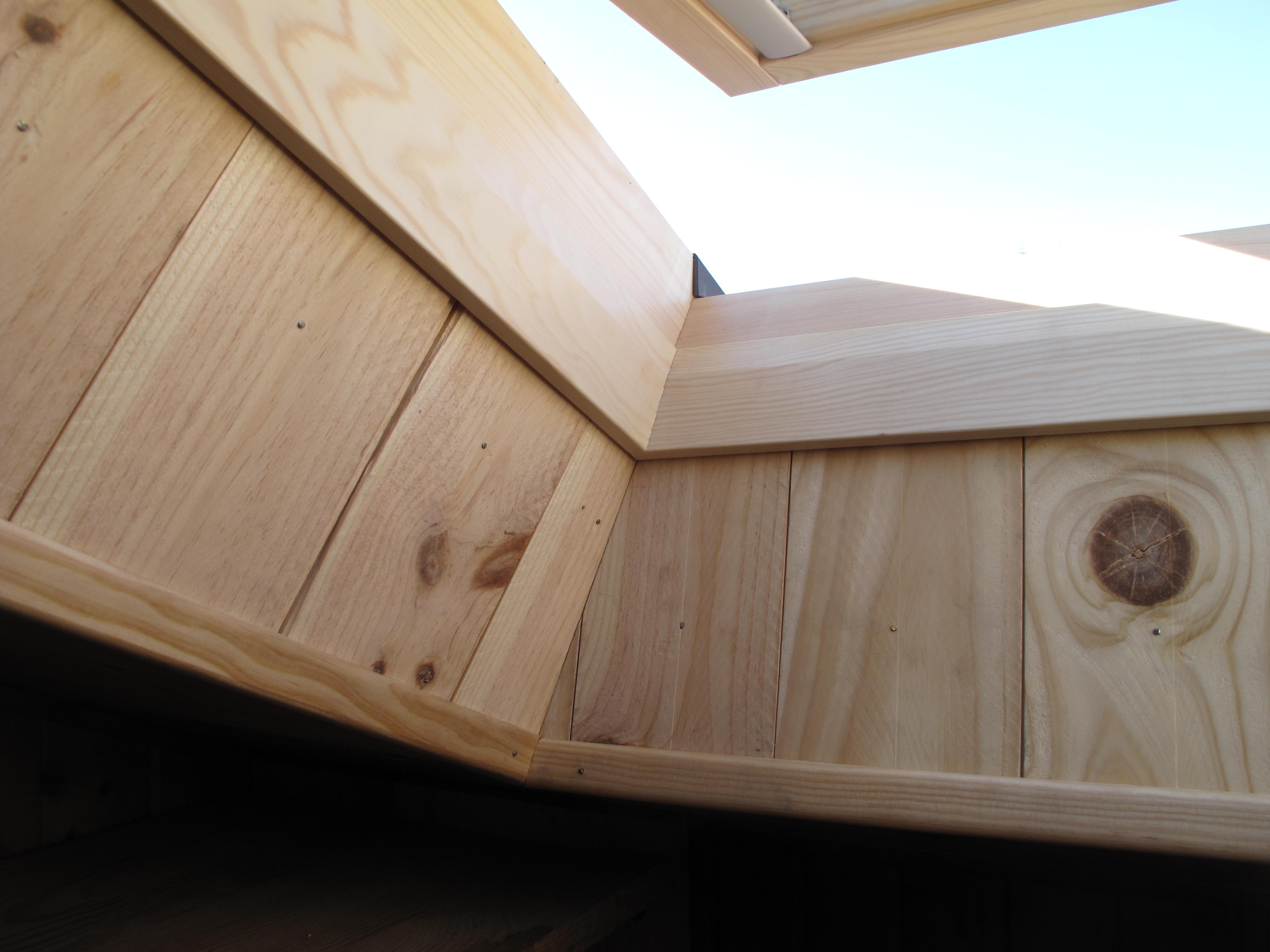 Finition lambris bois