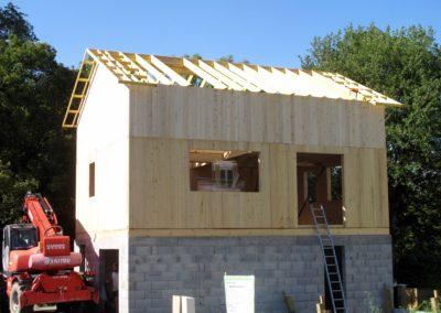 Maisons MHM en construction - Noyarey
