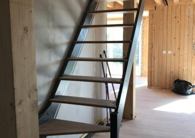 Escalier bois quart tournant bas - Le Passage