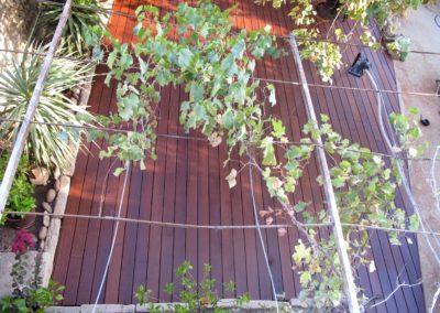 Terrasse extérieur bois érotique - Domazan