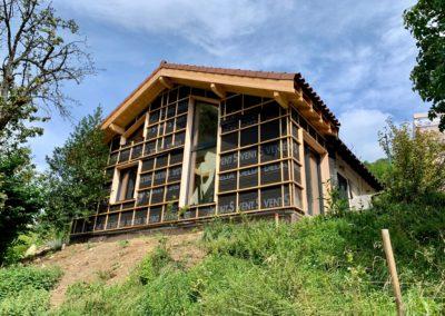 extension ossature bois maisons passive