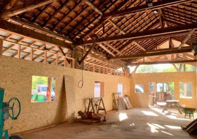 Création de bureau en ossature bois  dans une grange